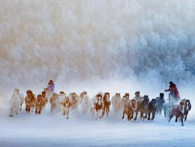 坝上冬雪摄影游-乌兰布统—敖包图—公主湖—蛤蟆坝—魔界透风沟冰雪摄影6日游