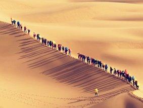 徒步腾格里-腾格里沙漠-天鹅湖-苏海图湖-月亮湖-太阳湖-乌兰湖 五湖连穿4日沙漠穿越体验游